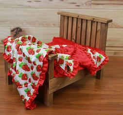 NEW minky Nursery Baby receiving Blanket Satin Ruffle red st
