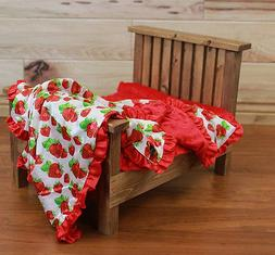 NEW minky Nursery Baby receiving Blanket Satin Ruffle red st