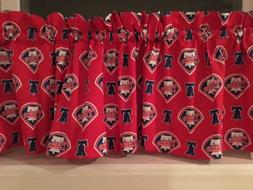 NEW MLB Philadelphia Phillies Baseball Sports Valance Curtai
