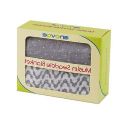 New Enovoe Muslin Swaddle Blankets  -  All-in-One Baby Swadd