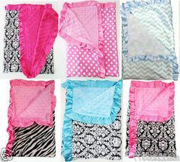 NEW Nursery receiving Blanket BOY GIRL chevron zebra damask