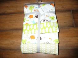 NEW NWT Carter's 4 Pack Flannel Receiving Blankets boys, ani
