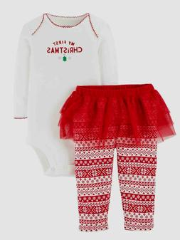 New NWT Carter's Just One You 2 Piece My First Christmas Tut