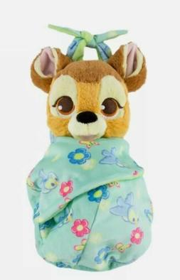 """NEW Disney Parks Bambi Baby Plush with Blanket Pouch 10"""" Bab"""