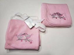 NEW Koala Baby Pink Birds Branch Thermal Waffle Weave Receiv