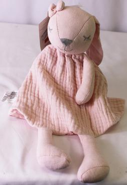 New cloud island Pink Bunny Rabbit 100% Cotton Muslin Securi