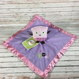 NEW Circo Pink Plush Owl Purple Love Baby Security Blanket L
