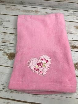 New Baby Starters Pretty in Pink Baby Blanket Satin Heart Fl