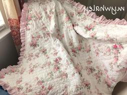NEW! Quilt BABY BLANKET Throw made w/Simply Shabby Chic Bloo
