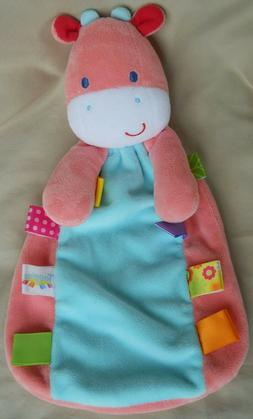 SECURITY BLANKET COW BERRIE BRIGHT BEGINNINGS HOT PINK VELOUR NEW GIRL KNOTS NWT