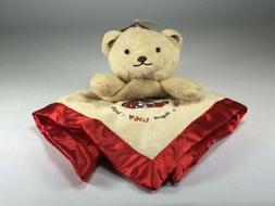 New Security Blanket SF 49ers Embroidered Logo Bear Lovey Ba