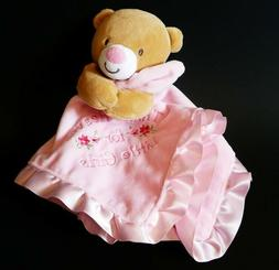 NEW Baby Starters Snuggle Buddy Pink Blanket Rattle Thank He