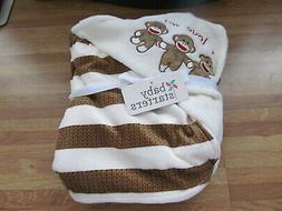 NEW Baby Starters sock monkey baby blanket - 30x40 inches