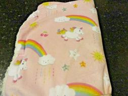 new super soft plush pink rainbows unicorns