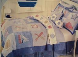 NEW THAT'S MINE VARSITY BASEBALL SPORTS  TWIN QUILT 3P SET H
