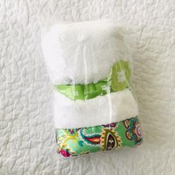 NEW Vera Bradley White Baby Blanket Tutti Frutti Green Paisl