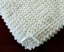 NEW White Cuddly Soft Beautiful Crochet Christening Baby Afg