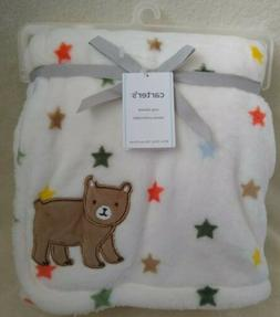 NEW WITH TAGS CARTER'S BABY BLANKET NURSERY COZY & SOFT WHIT