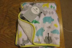 NEW WITH TAGS Carter's Plush Animal Print Baby Blanket Size