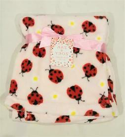 "New Zak & Zoey Pink + Red Ladybugs + Flowers 30"" x 30"" Plush"