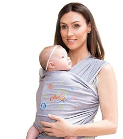Newborn, Infant, Baby & Toddler Wrap Carrier Sling & Cover W