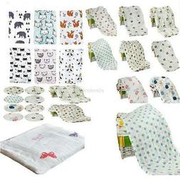 Newborn Baby Blanket Bedding Blanket Wrap Swaddle Soft Musli