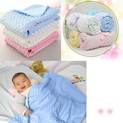 Newborn Baby Blanket Warm Fleece Stroller Cover Quilt Swaddl