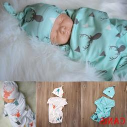 newborn baby boy cotton swaddle blanket sleeping