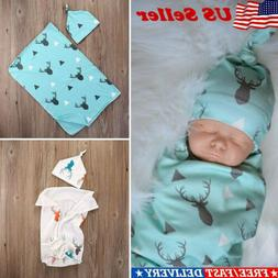 Newborn Baby Boy Cotton Swaddle Blanket Sleeping Swaddle Mus