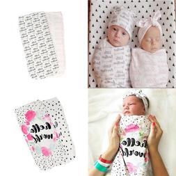 Newborn Baby Boy Girl Cocoon Swaddle Blanket Sleeping Swaddl