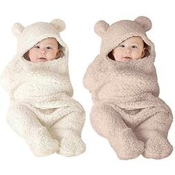 Newborn Baby Boy Girl Cute Cotton Receiving White Sleeping B
