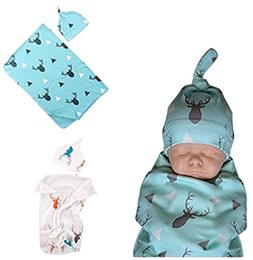 BANGELY Newborn Baby Boys Girls Deer Swaddle Blanket Warm Co