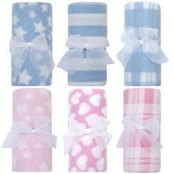 Newborn Baby Boys Girls Fleece Comforter Blanket Bedding Cot