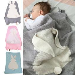 Newborn Baby Bunny Napping Blanket Rabbit Bedding Towel Cove