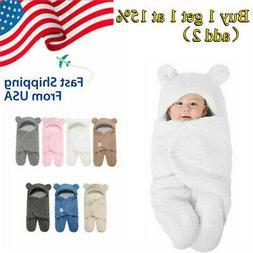 Newborn Baby Cute Cotton Receiving Sleeping Blanket Wrap Swa