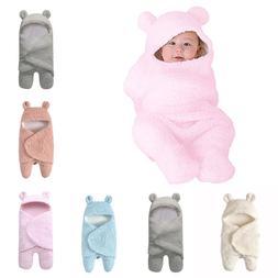 Newborn Baby Cute Cotton Receiving White Sleeping Blanket Bo