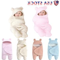 Newborn Baby Cute Cotton Receiving White Sleeping Blanket Bo