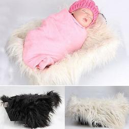 Newborn Baby Faux Fur Blanket Photography Photo Prop Backdro