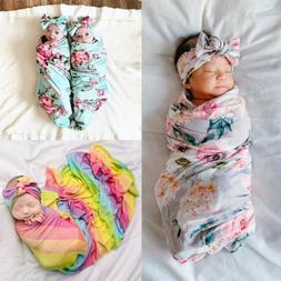 Newborn Baby Floral Swaddle Blanket Receiving Blanket Swaddl