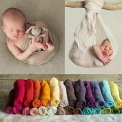 Newborn Baby Girl Boy Crochet Knit Wrap Rayon Swaddle Photog