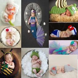 Newborn Baby Girl Boy Knit Clothes Photo Crochet Costume Pho