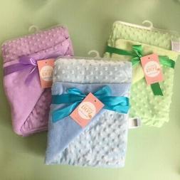 Newborn Baby Girl Boy Plush Blanket Infant for Toddler Pram