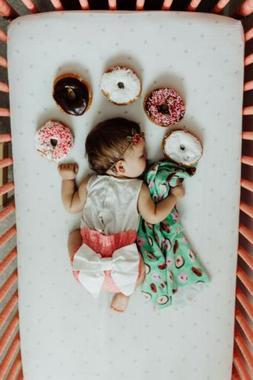 newborn baby girl donut swaddle wrap blanket