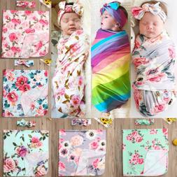 newborn baby girl floral swaddle wrap blanket