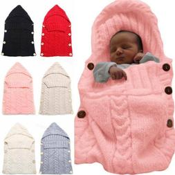Newborn Baby Infant Cable Knit Blanket Swaddle Soft Swaddlin