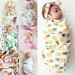 Newborn Baby Infant Photo Props Cotton Swaddle Muslin Blanke