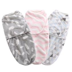 Newborn Baby Infant Swaddle Wrap Warm Blanket Soft Coral Vel