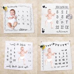 Newborn Baby Kid Girls Boy Infants Milestone Blanket Mat Pho