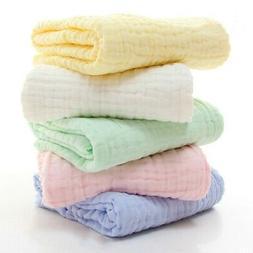 Newborn Baby Kid Muslin Swaddle Soft Sleeping Blanket Wrap I