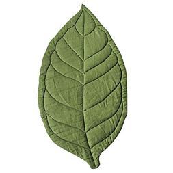 Yinpinxinmao 110cm x 55cm Newborn Baby Leaf Shape Soft Crawl